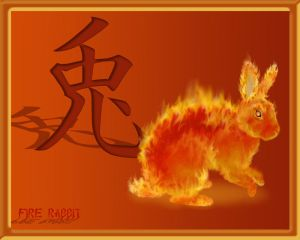 Fire Rabbit Tattoo