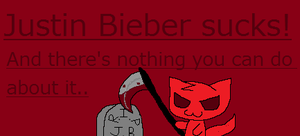 Justin Bieber SUCKS by Blueshadow54