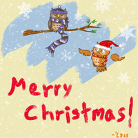 Owl Wish You a Merry Snowy Christmas by ThisIsNotanOwl