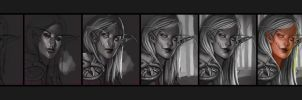 Photoshop Process- Elf by JenPenJen