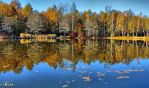 Autumn. The pond. by miirex