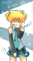 -- Happy Birthday...Miku? -- by Kurama-chan
