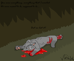 Cinderpelt death by MajuFogo