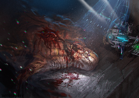 Monster Dissection -Spitpainting by Aerozopher
