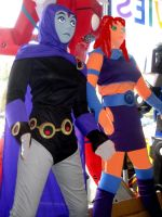 life size Starfire and Raven by TeenTitans4Evr