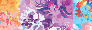 Rainbow Power Silhouette Wall by SpaceKitty