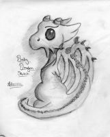 Baby dragon by lil-kelly13