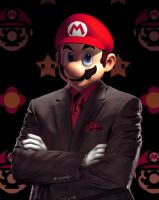 Mario In A Suit by LayLowCM