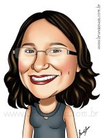 Caricature: Josiane by brunasousa