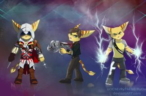 Ratchet and Clank Crossovers by oOChErRyThEbErRyOo