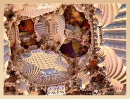 In the maze mandelbulb by lady-AquaLena