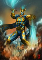 The City of Heroes magic man...T'Ankh by Kobolt1
