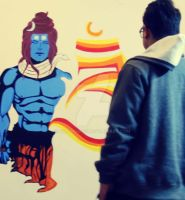 SHIVA wall mural_2 by chauhan03