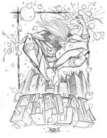 Commish Sketch 52 SpeedBall by RobDuenas