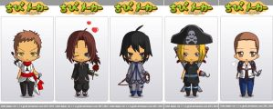 Assassin's Creed chibis-Family by Darkflametailz