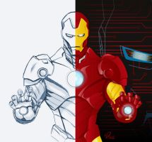 Iron man pencil to vector by YulayDevlet