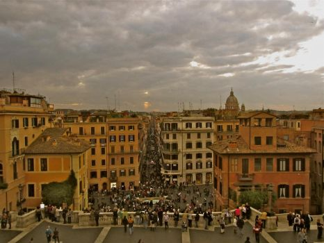The Piazza di Spagna by BondFriend