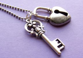 Key To My Heart Necklace by PorcelinaZero