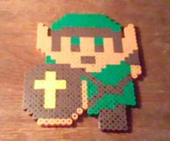 Big NES Link Perler by Perler-Pop