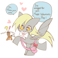 Derpy n Hooves's Happy Valentine's Day! by memoneo