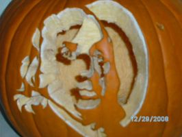 Benjamin Franklin Pumpkin Carving 09 by liquidinsect