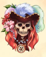 Pirate tattoo: Anne Bonny by OlchaS