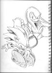 Drawings in the back of my ALv Art Book xD by LightningChaos2010