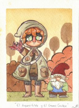 The Sad Archer and the Grumpy gnome by CarolconC