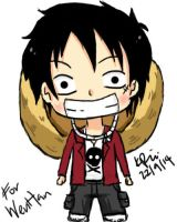 Luffy Tablet Drawing by KimikoRei07