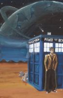 Dr Who Painting by SmudgedPixelsArt