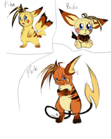 If Azael was a Pichu or a Raichu by Pandoraz-Kyle