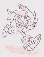 Sonic Sketch by JamesmanTheRegenold