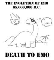 Evolution of Emo I - dino by jiggyfresh