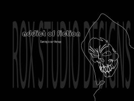 Addict of Fiction logo trial 2 by rox52