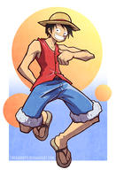 LUFFY by Sorakirbys