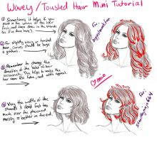 Wavey and Tousled Hair - Mini Tutorial by DarlingMionette