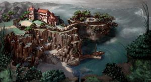 Cliffside Haven by MasterpieceLost