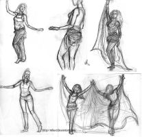Belly dance live sketches 2 by Robus2