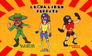Lucha Libre Puppets by Himitsuboy