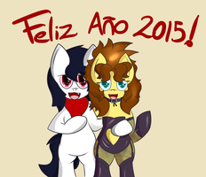 Happy new year 2015 by almaustral