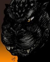 Godzilla quick portrait by Kingoji