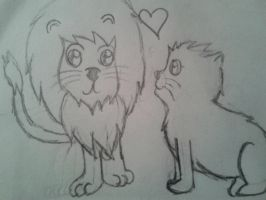 lion love by kawenzilla