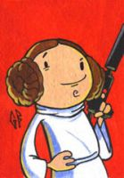 SketchCard: StarWars LEIA by Axigan