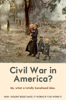 Civil War in America? by poasterchild