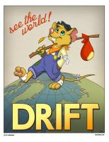 Animal Propaganda - Drifter Mouse by marymouse