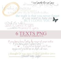 6 textos png by itstew
