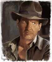Indiana Jones speedpaint by inkfloyd