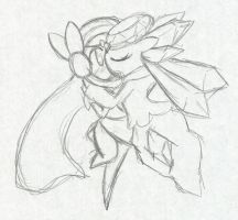 Diancie's Sweet Kiss :Sketch: by Xero-J