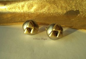 Triforce CuffLinks Legend of Zelda OOAK Custom 5 by TorresDesigns