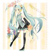 Happy Birthday Miku by Michiyone